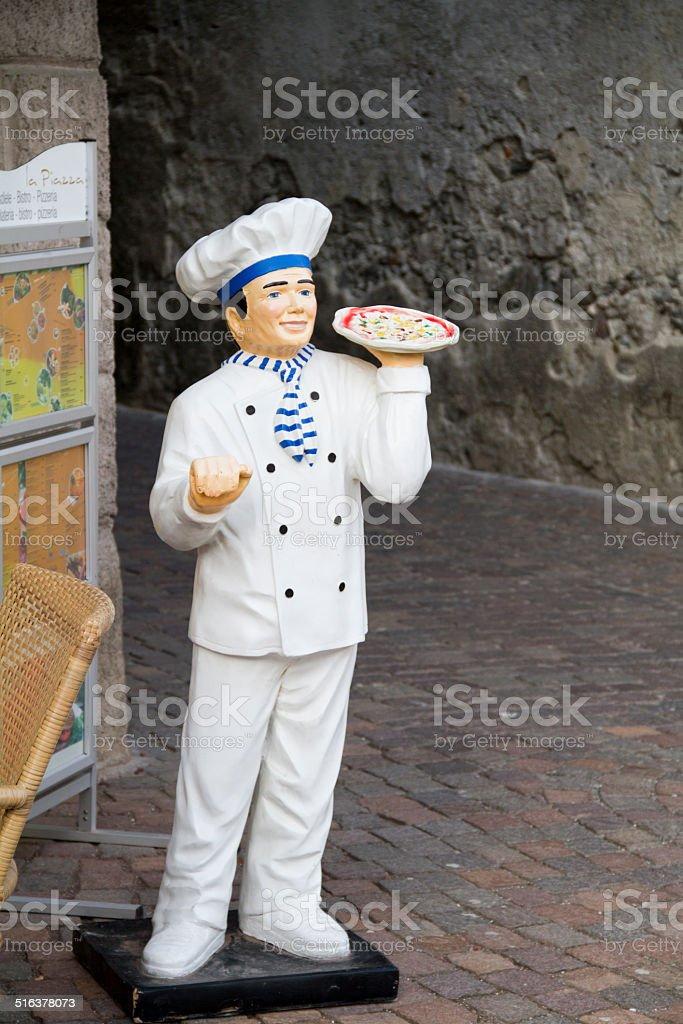 pizza Chef statue stock photo