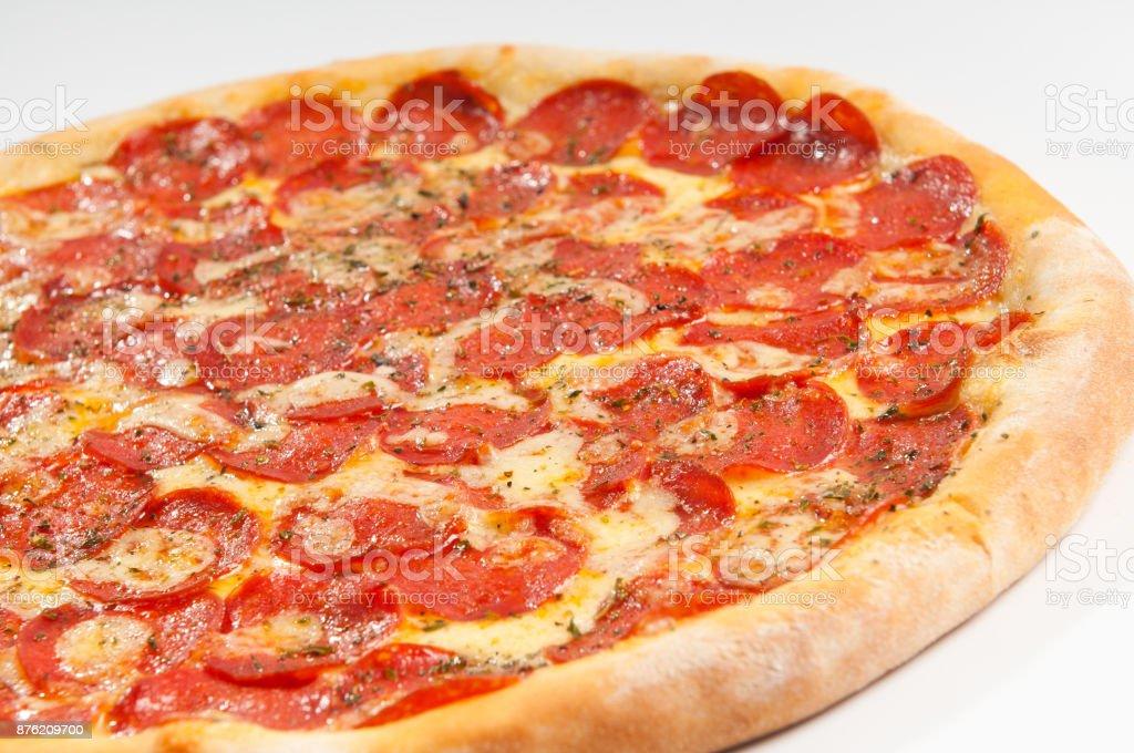 Pizza de Pepperoni stock photo