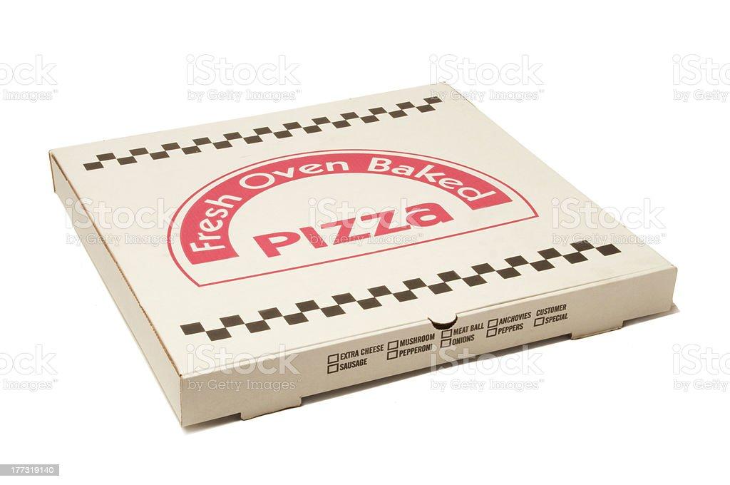 Pizza delivery box stock photo