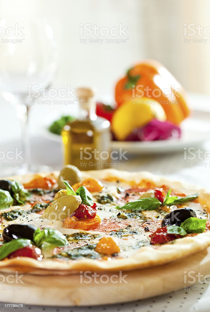 Pizza Dinner royalty-free stock photo