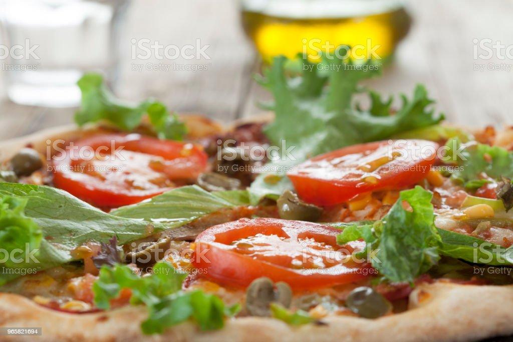 pizza fast food italian - Royalty-free Cheese Stock Photo