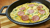 Pizza Frittata, different cheeses in the frittata base, and top with a delicious mozzarella and pepperoni combo.