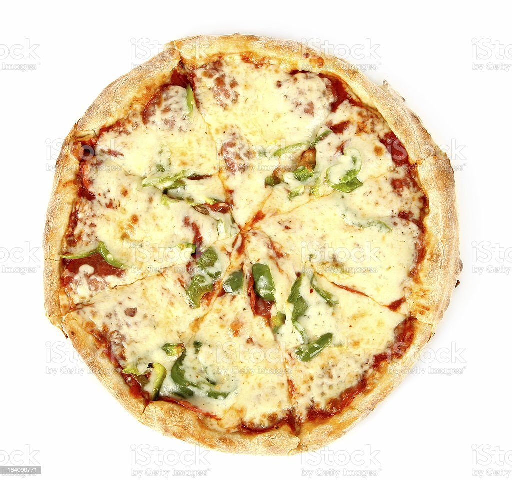 Pizza from the top - Double Cheese royalty-free stock photo