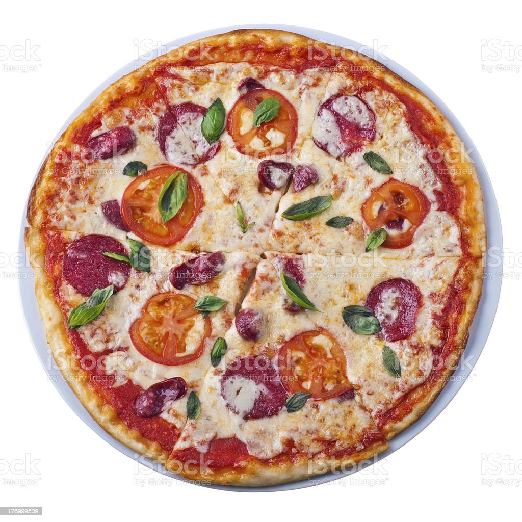 Pizza from the top royalty-free stock photo