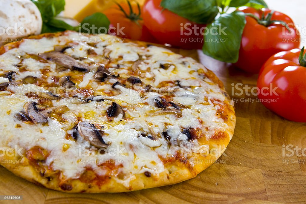 pizza funghi royalty-free stock photo