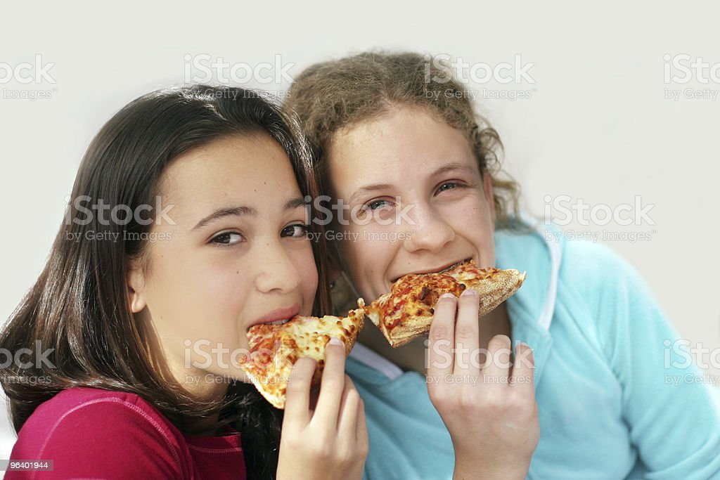 Pizza girls - Royalty-free American Culture Stock Photo