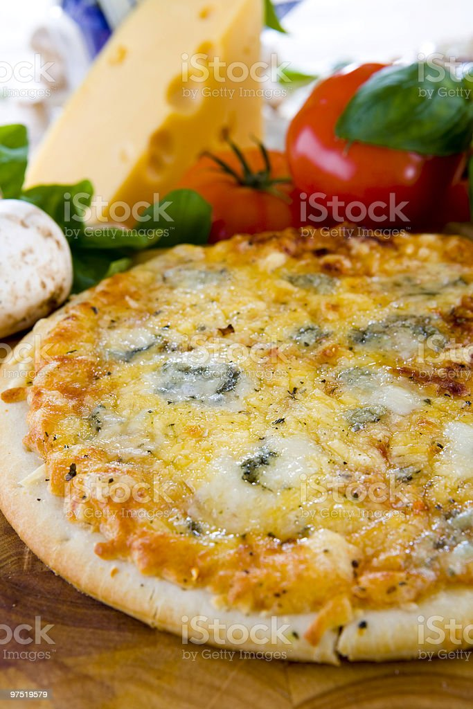 pizza gorgonzola royalty-free stock photo