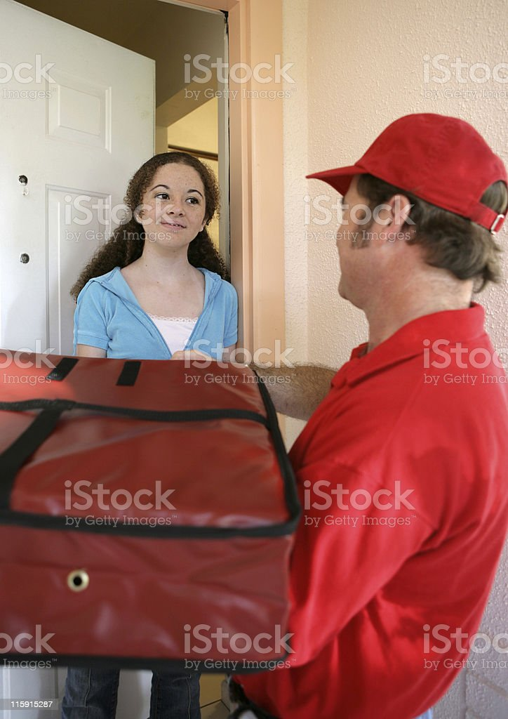 Pizza Home Delivery royalty-free stock photo