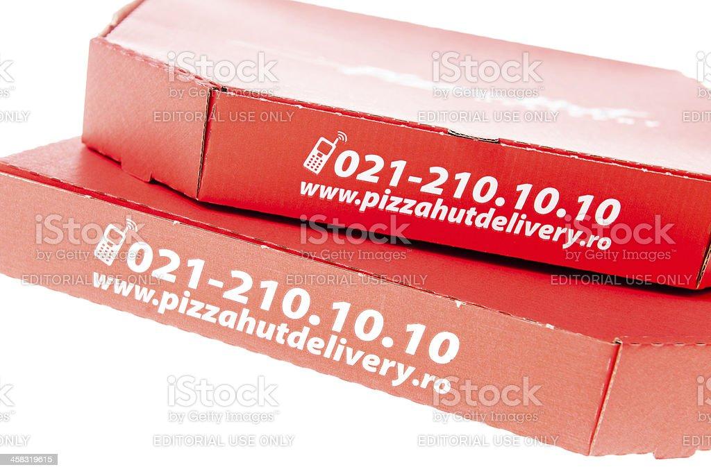 Pizza Hut Delivery Box stock photo