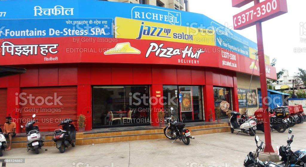 Pizza Hut in Pune, India stock photo