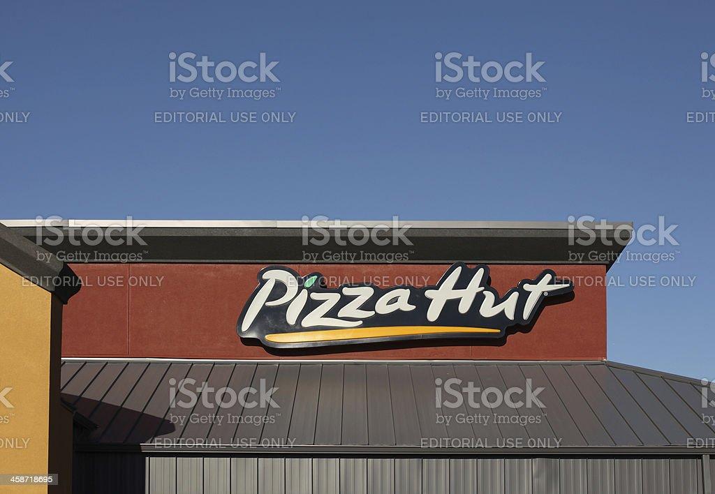 Pizza Hut Restaurant Sign stock photo