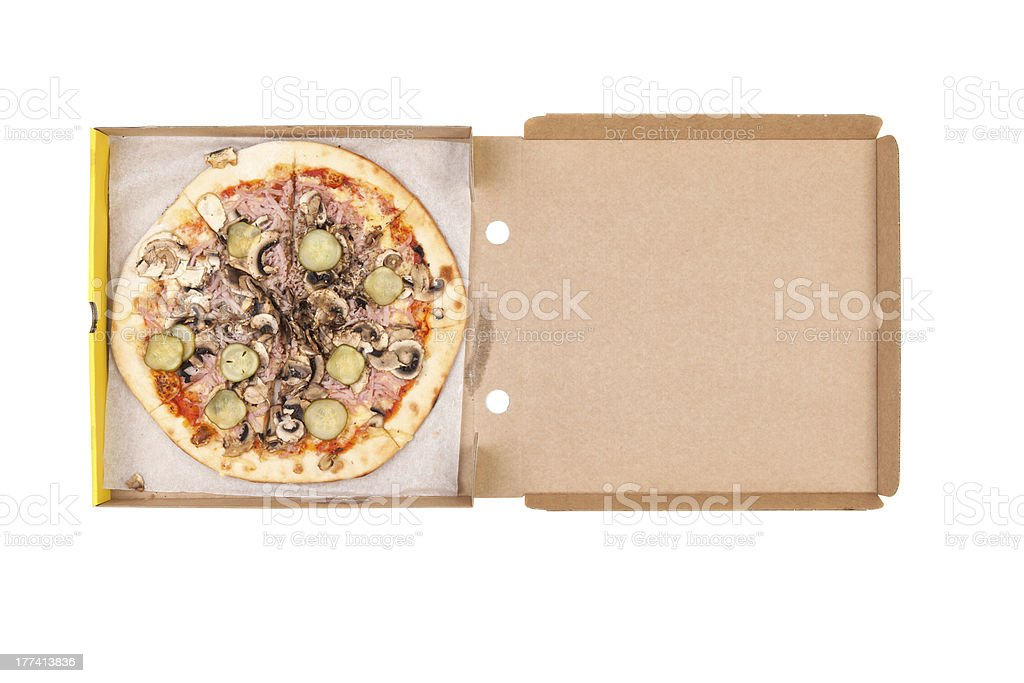 pizza in box royalty-free stock photo
