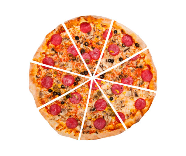 pizza isolated on white - 8 infographic stock photos and pictures