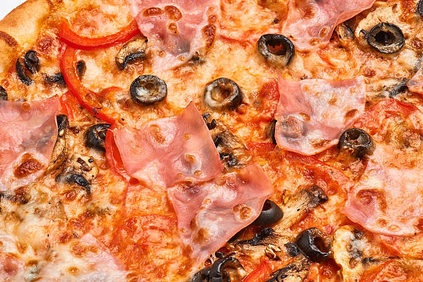 pizza isolated on whitw – Foto