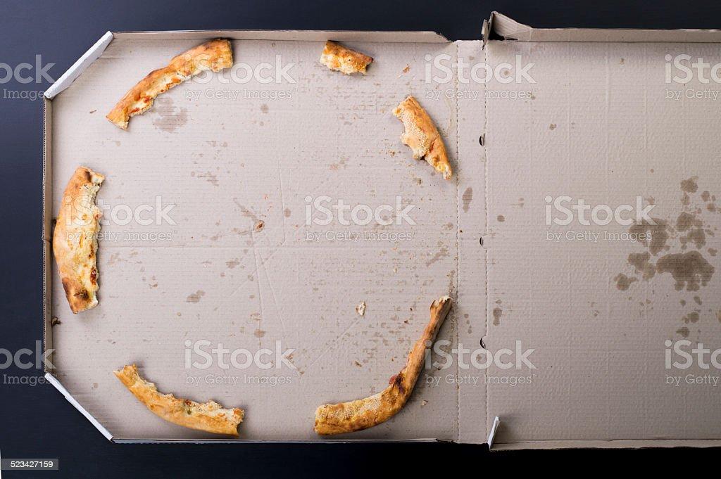Pizza leftovers stock photo