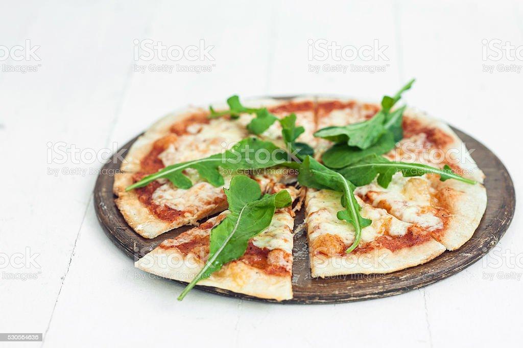 Pizza margarita stock photo