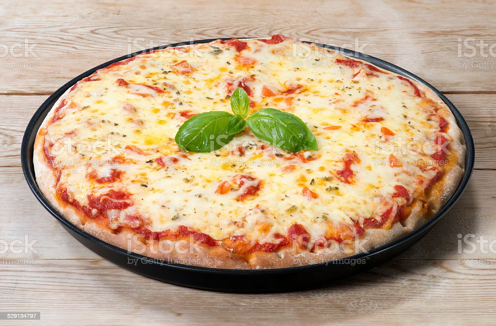 Pizza Margharita(+clipping path) stock photo
