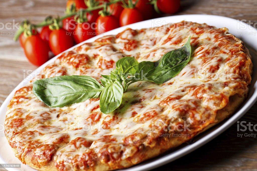 Pizza margherita. royalty-free stock photo