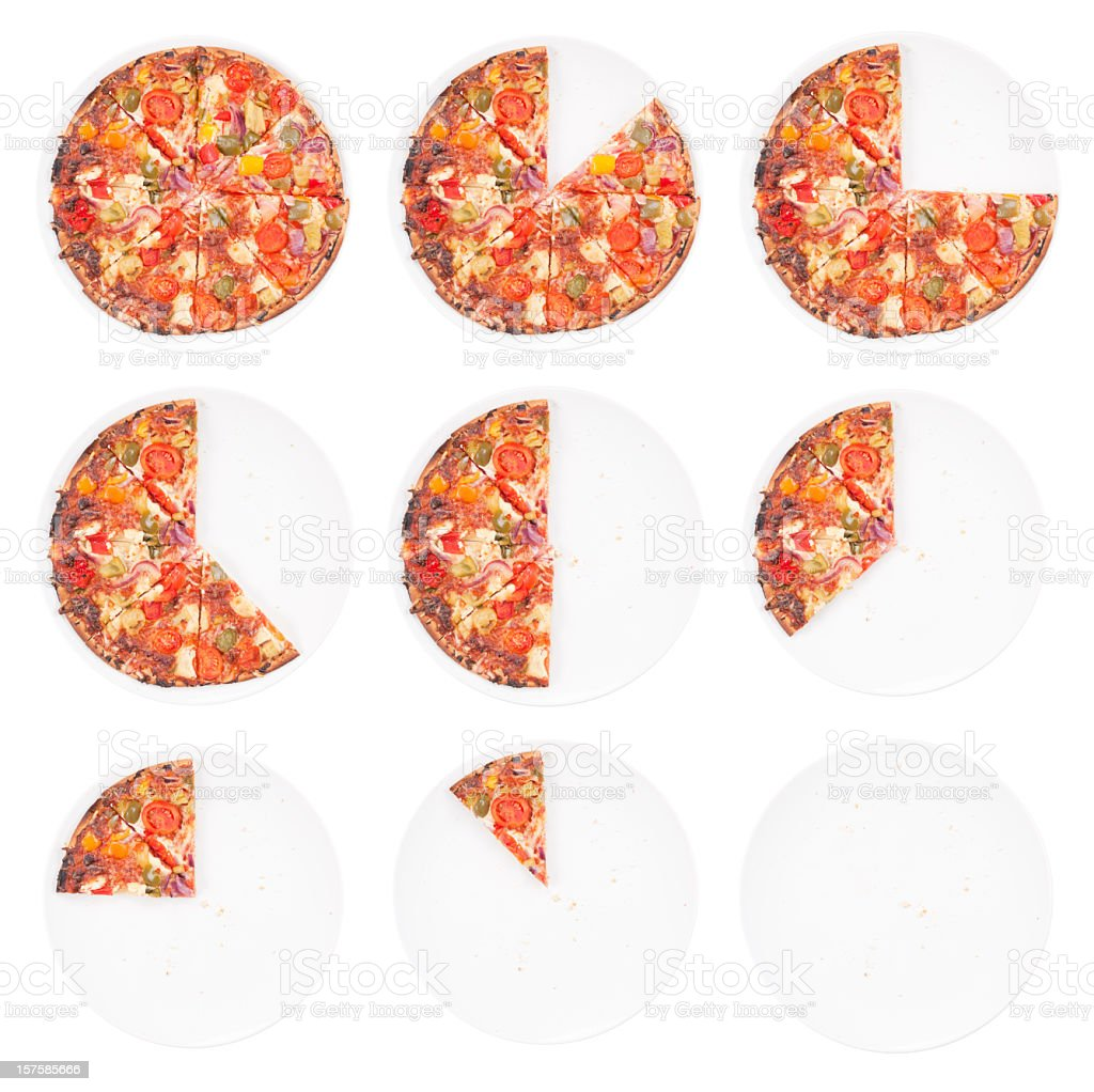 Pizza Mathematics stock photo