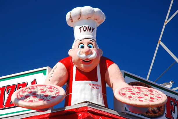 Pizza on the Boardwalk stock photo