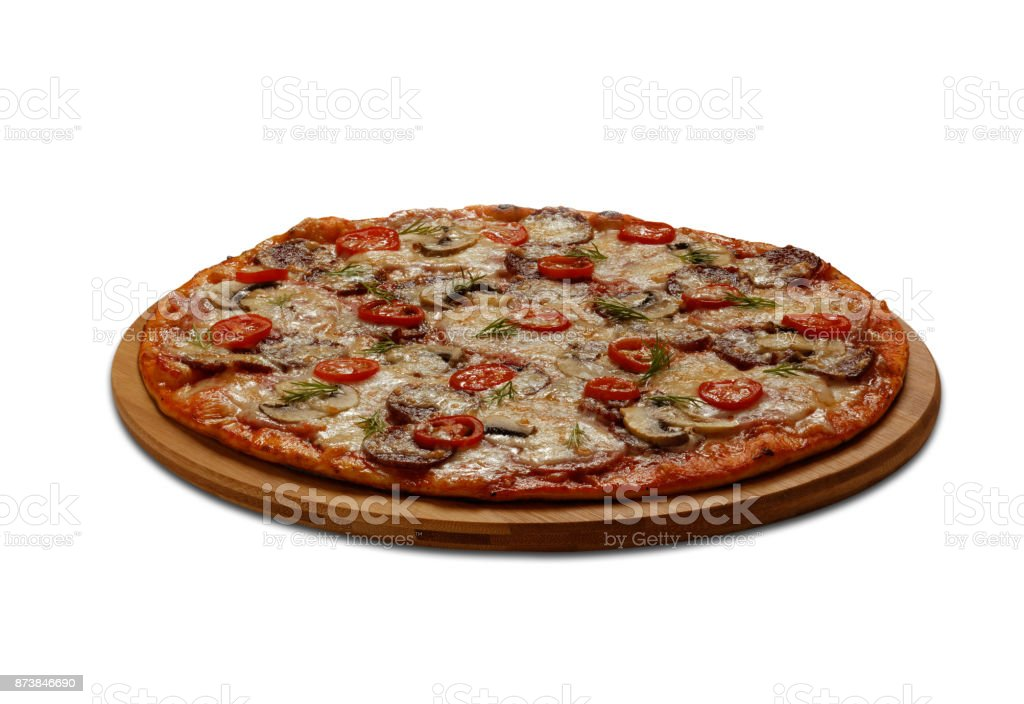 A Pizza on white background stock photo