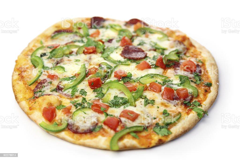 pizza on  white background royalty-free stock photo