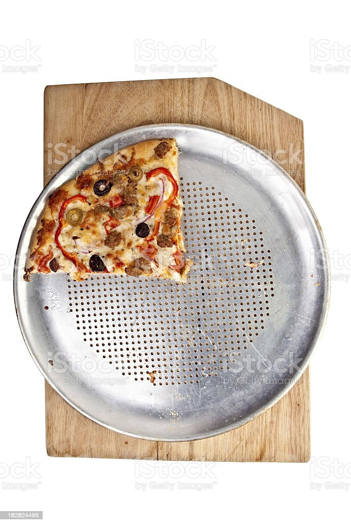 Pizza One Piece Left royalty-free stock photo