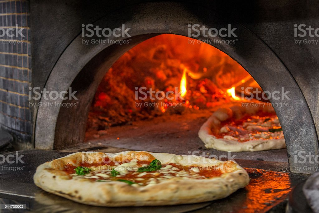 pizza oven in Napoli stock photo