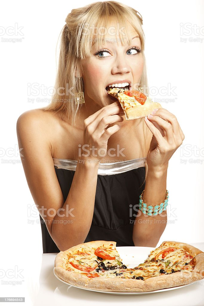 Pizza party! stock photo
