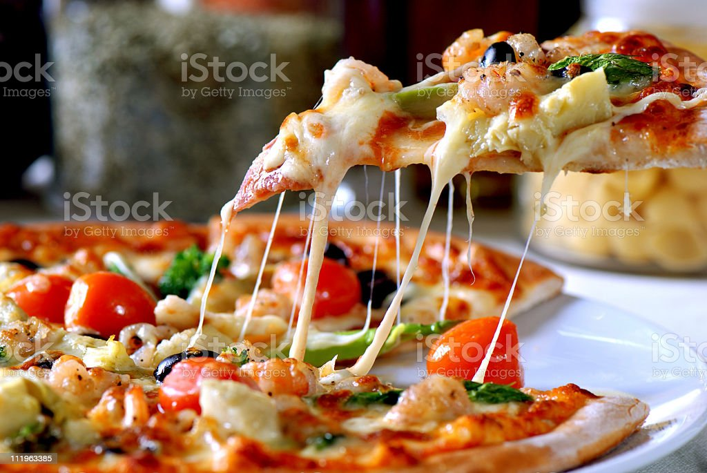 Pizza  Baked Stock Photo