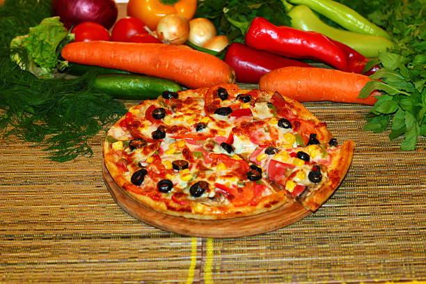 Pizza stok fotoğrafı