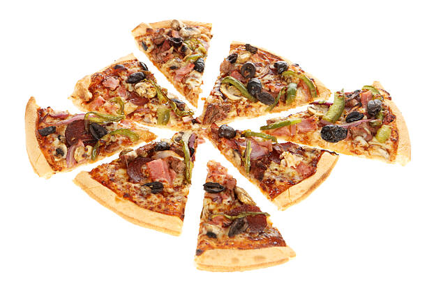 Pizza Portions stock photo