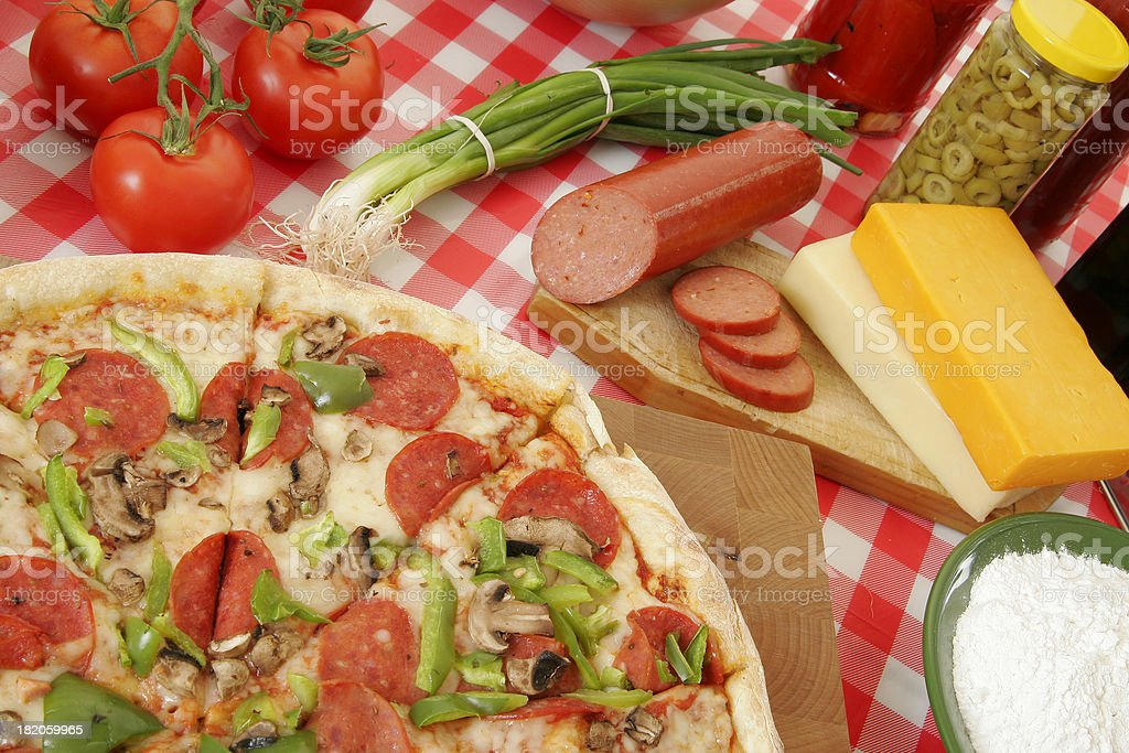 Pizza preparation 40 royalty-free stock photo
