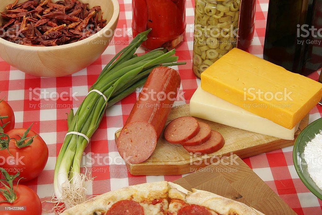 Pizza preparation 53 royalty-free stock photo