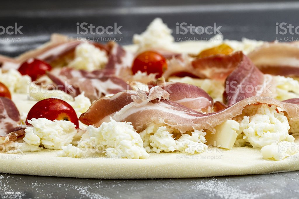 Pizza preparing royalty-free stock photo