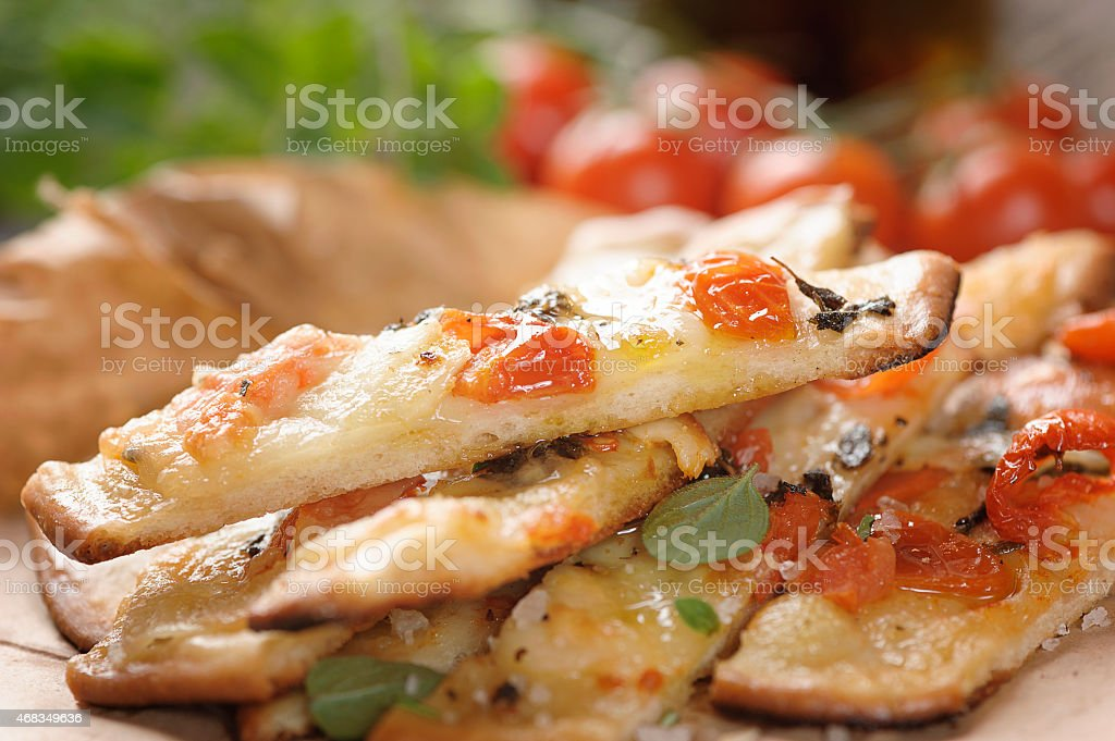 Pizza sea salt royalty-free stock photo