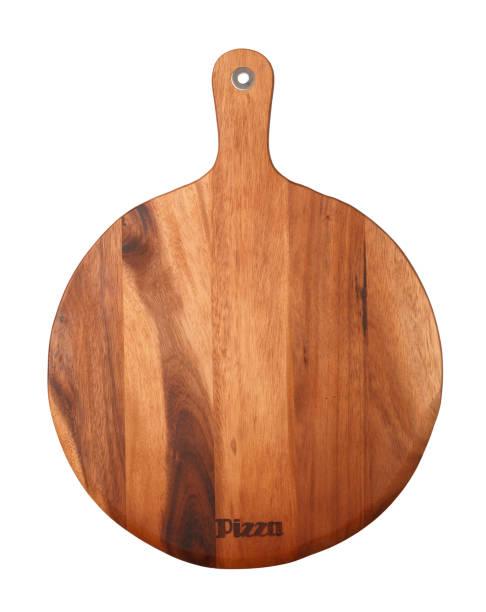 pizza serving board - tablett holz stock-fotos und bilder