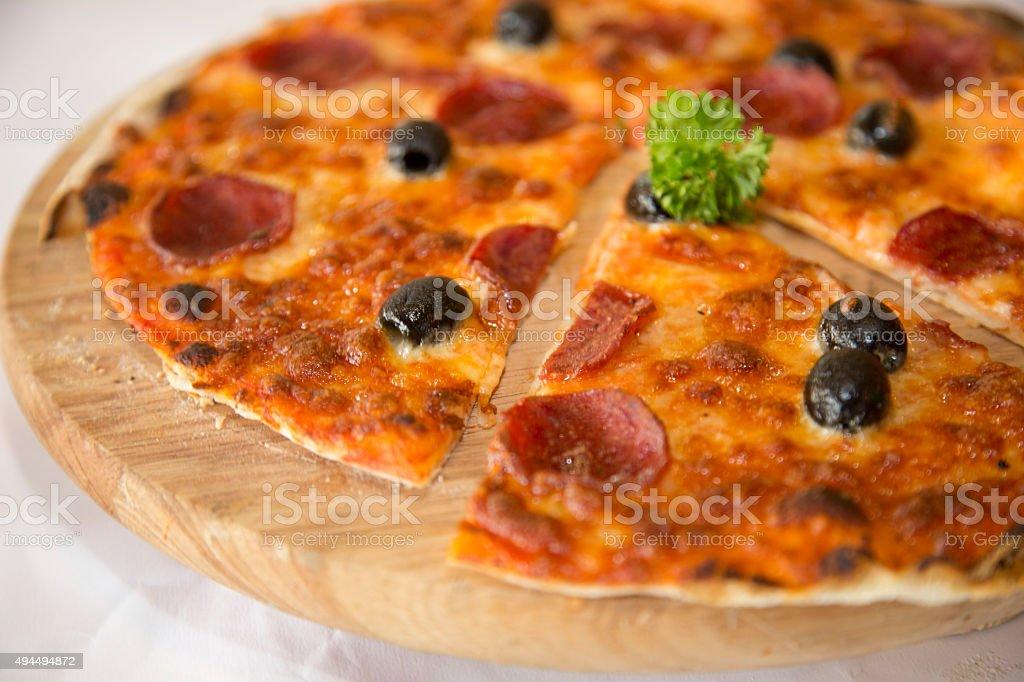 pizza slice und pizza – Foto