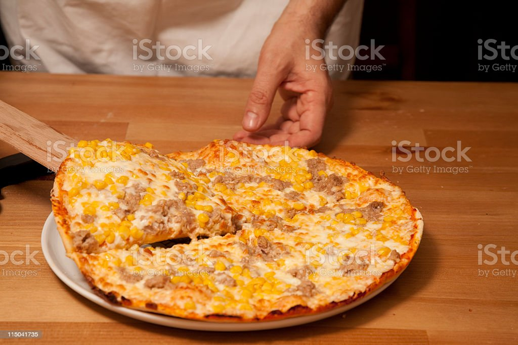 pizza slice royalty-free stock photo