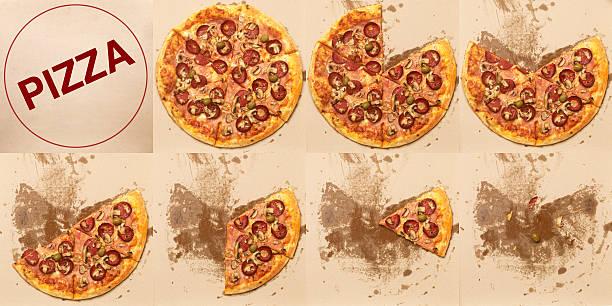 Pizza Slices stock photo