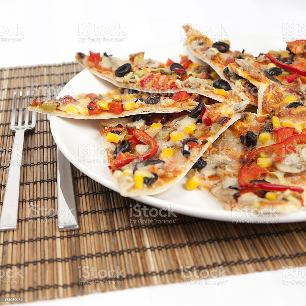 Pizza slices royalty-free stock photo