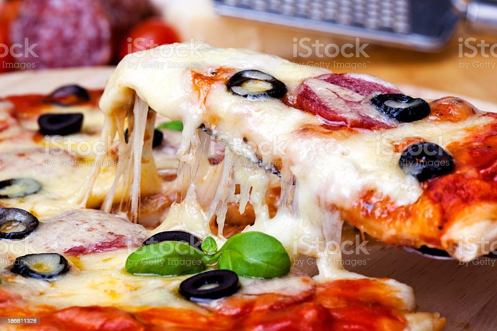 Pizza Supreme royalty-free stock photo