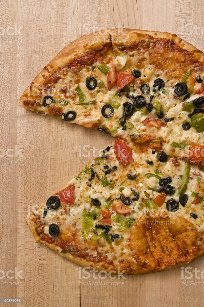 Pizza - the missing slice royalty-free stock photo
