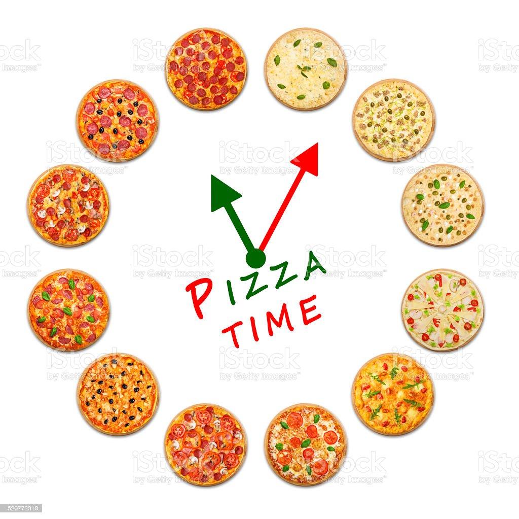Pizza Tempo Orologio Da Cucina Italiana - Fotografie stock e altre ...