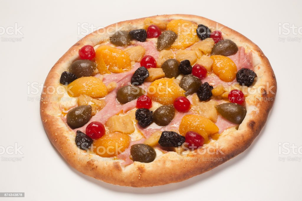 Pizza Doce stock photo