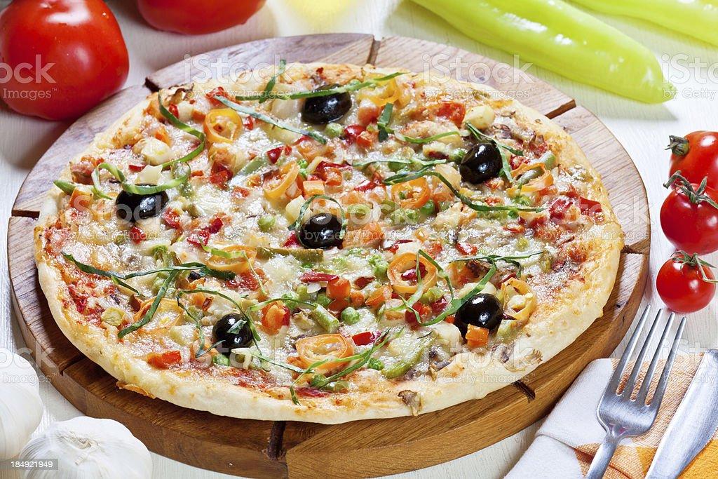 Pizza Vegetariana royalty-free stock photo