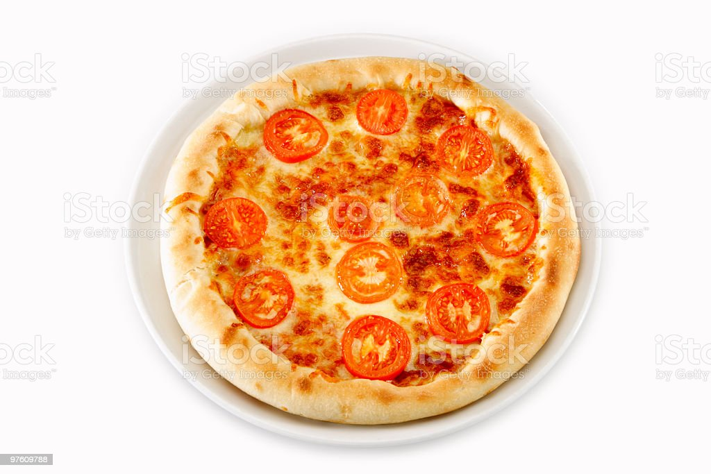 Pizza with tomato royalty-free stock photo