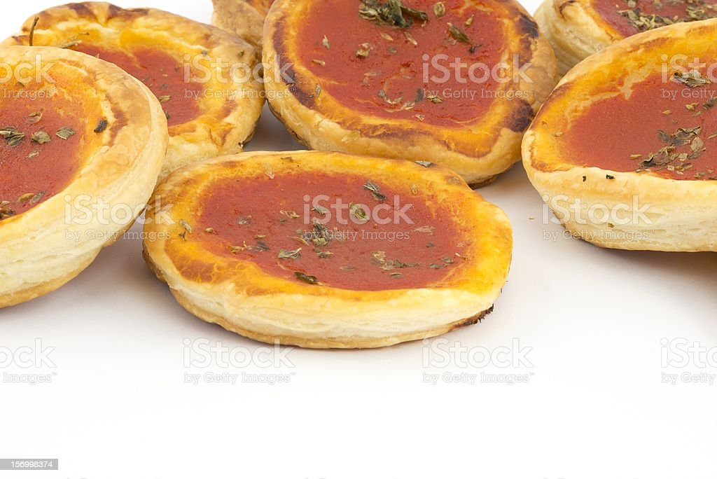 pizza with tomato sauce royalty-free stock photo