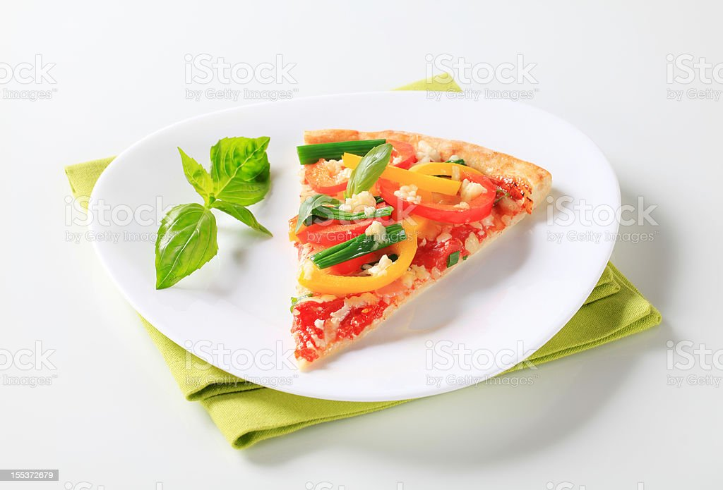 Pizza with vegetables royalty-free stock photo