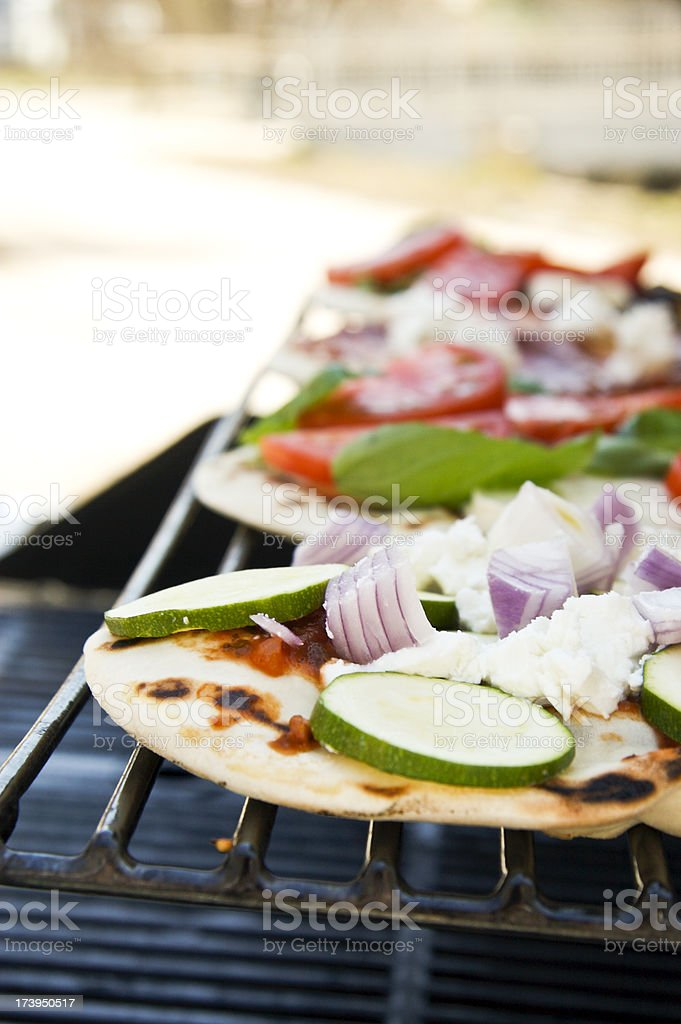 Pizzas on the Grill royalty-free stock photo